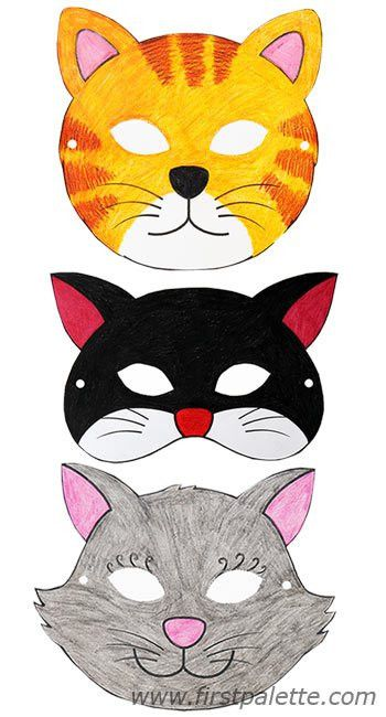 Cat masks and other free printable animal masks | Printable Animal ...