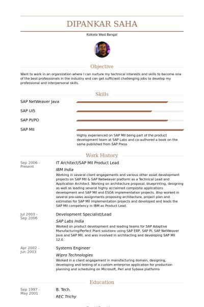 It Architect Resume samples - VisualCV resume samples database