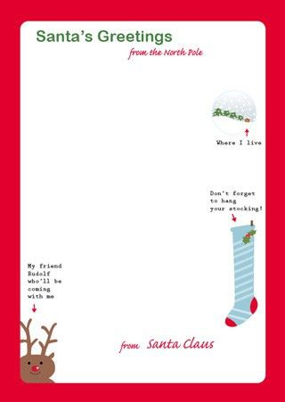 Free Printable Letter From Santa Template | All About Template