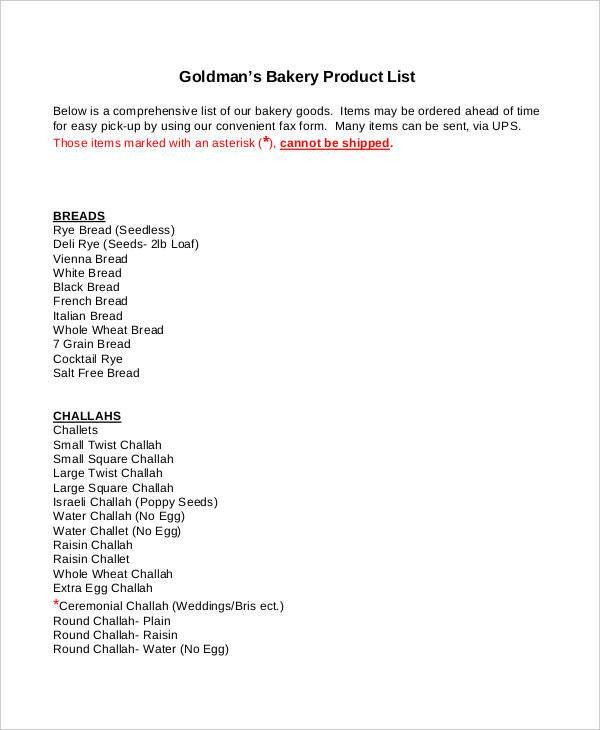 Product List Template - 9+ Free PDF Documents Download | Free ...