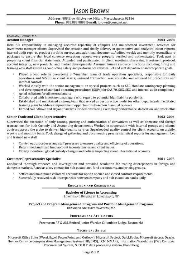 resume for finance manager resume entry level finance seangarrette ...
