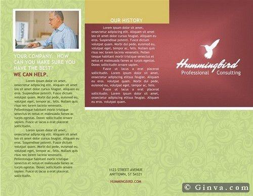 tri fold brochure template word   Professional Templates