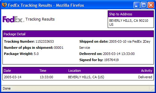 Tracking a Shipment