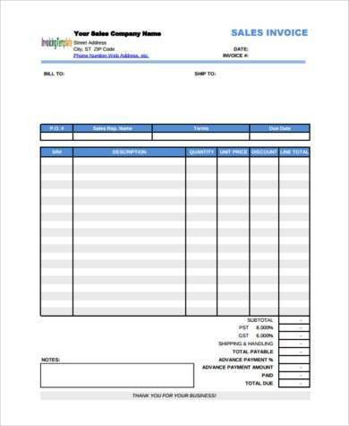 Sample Payment Invoice Forms - 7+ Free Documents in Word, PDF