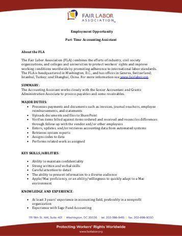 JOB OPPORTUNITY – Executive & Program Assistant – Part Time ...