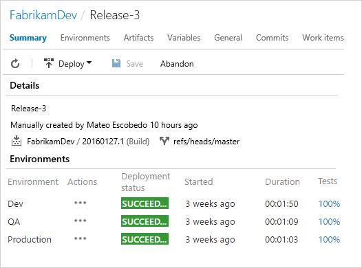 Release Management | Visual Studio Team Services