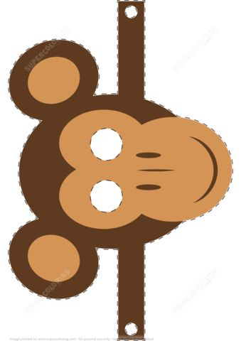 Monkey Mask Template | Free Printable Papercraft Templates