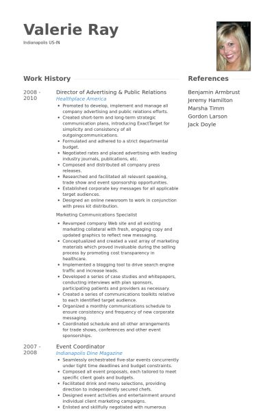 Public Relations Sample Resume Relations Executive Resume Example