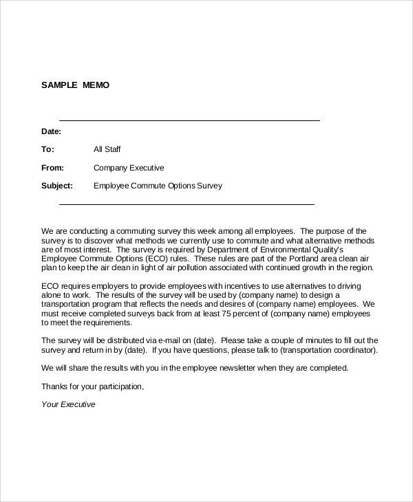 Sample Professional Memo - 7+ Documents in PDF, Word