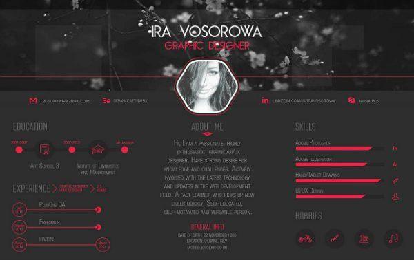20+ Free Resume Design Templates for Web Designers   Elegant ...