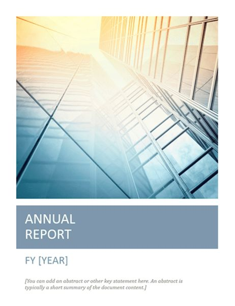 Annual report with cover photo (Timeless design) - Office Templates