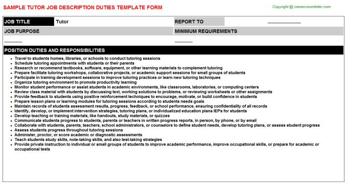 Tutor Job Title Docs