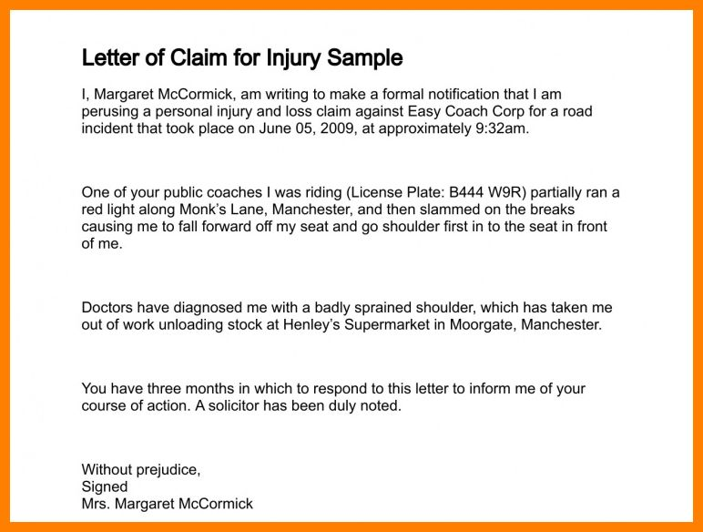 13+ letter of claims | absence notes