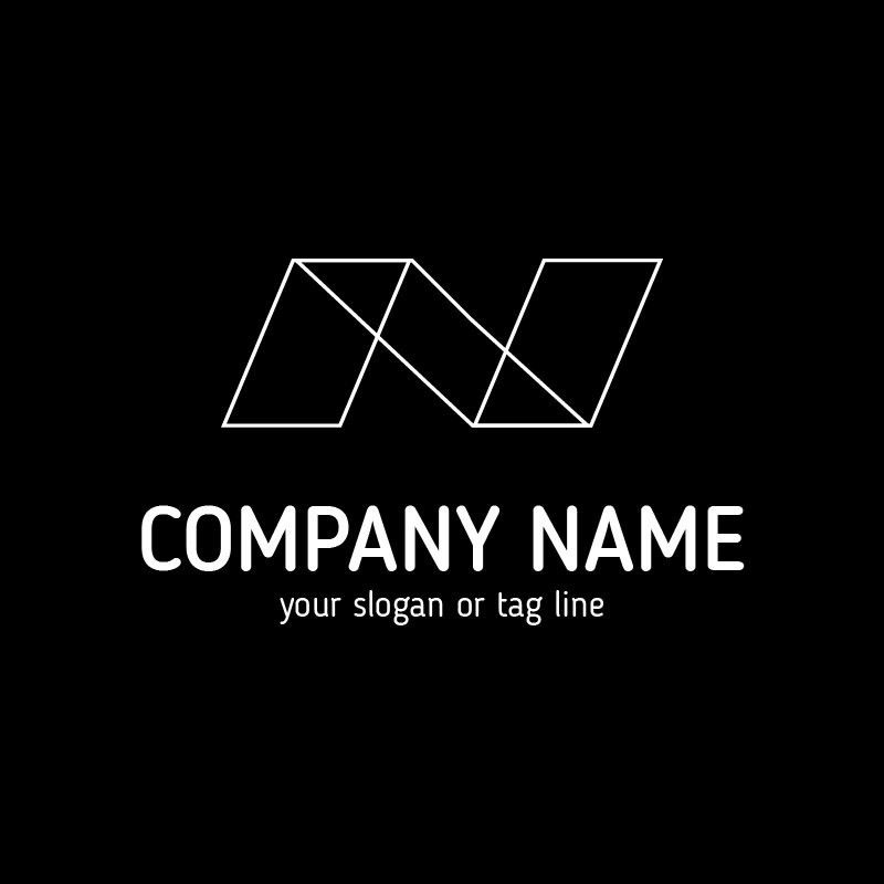 N Abstract Logo Template! Buy Logo Design Template!