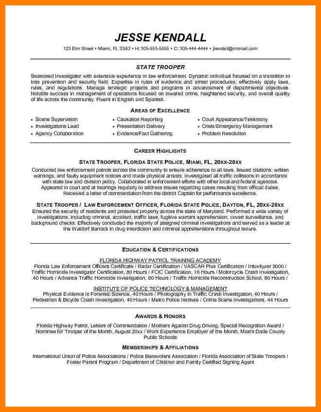 Police Resume. Criminal Investigator Resume Cover Letter Insurance ...