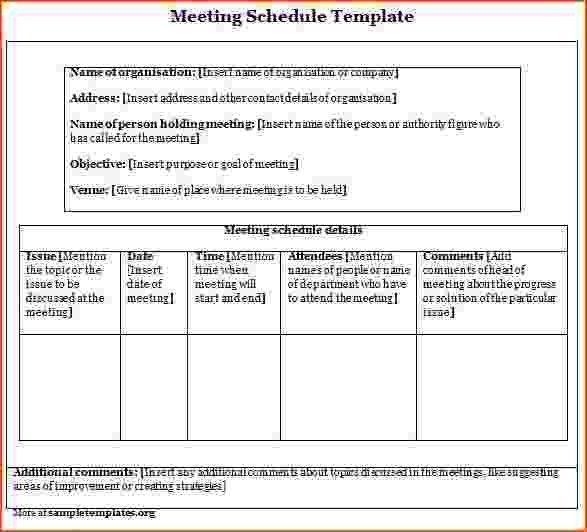 Meeting Scheduler Template [Template.billybullock.us ]