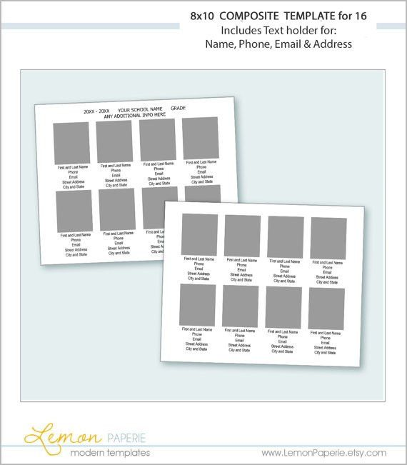 Preschool Classroom Directory Template for 16 or more