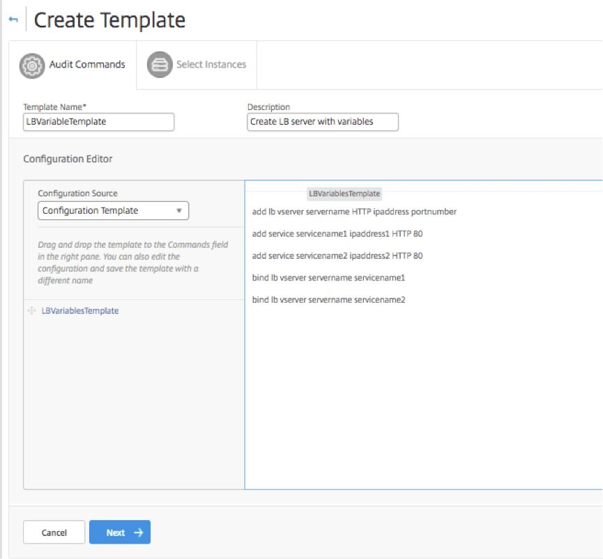 How to Use Configuration Templates to Create Audit Templates on ...