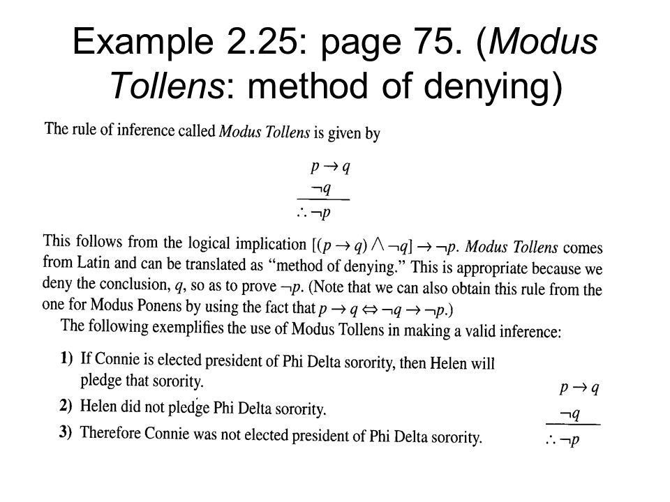 2.3Logical Implication: Rules of Inference From the notion of a ...