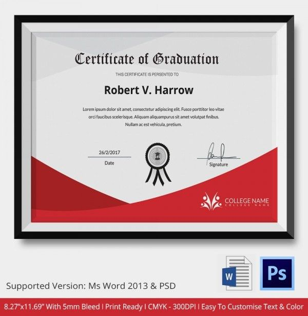 graduation diploma template microsoft word