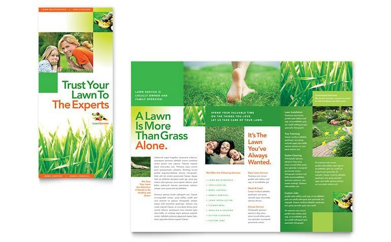 Lawn Maintenance Tri Fold Brochure Template - Word & Publisher