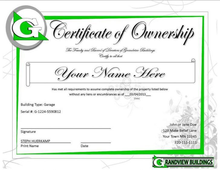 llc ownership certificate template | Clear and Best Samples Templates
