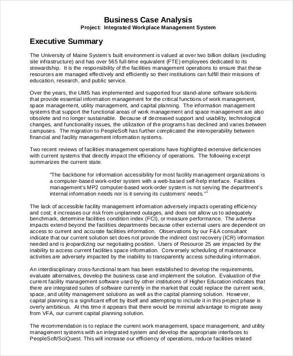 Case Summary Template. Business Case Template 03 30+ Simple ...