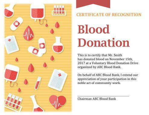 7 Printable Donation Certificates Templates