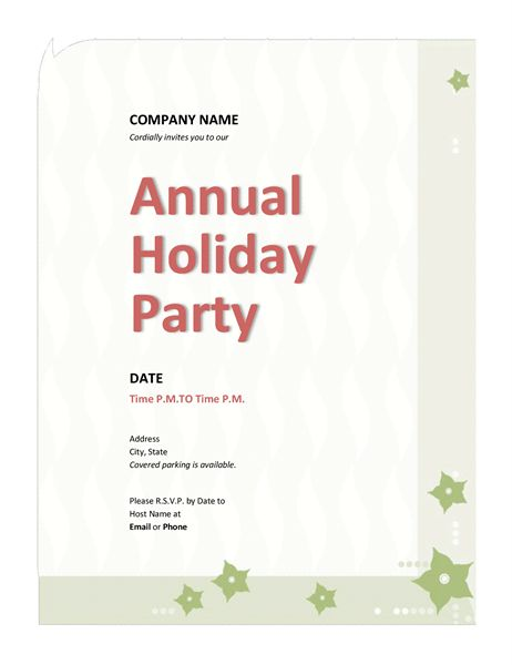 Company holiday party invitation - Office Templates