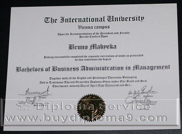 international university vienna campus degree, Buy diploma, buy ...
