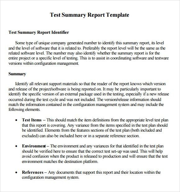 5 Summary Report Templates - Excel PDF Formats