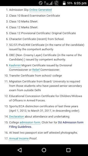 What docouments are required at the time of DU admission? - Quora