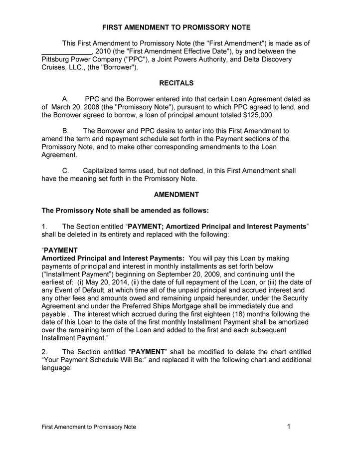 Free Download Simple Promissory Note Template Word | Download Free ...