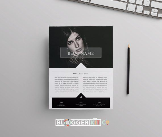 Two-Page Media Kit Template Press Kit Template Electronic