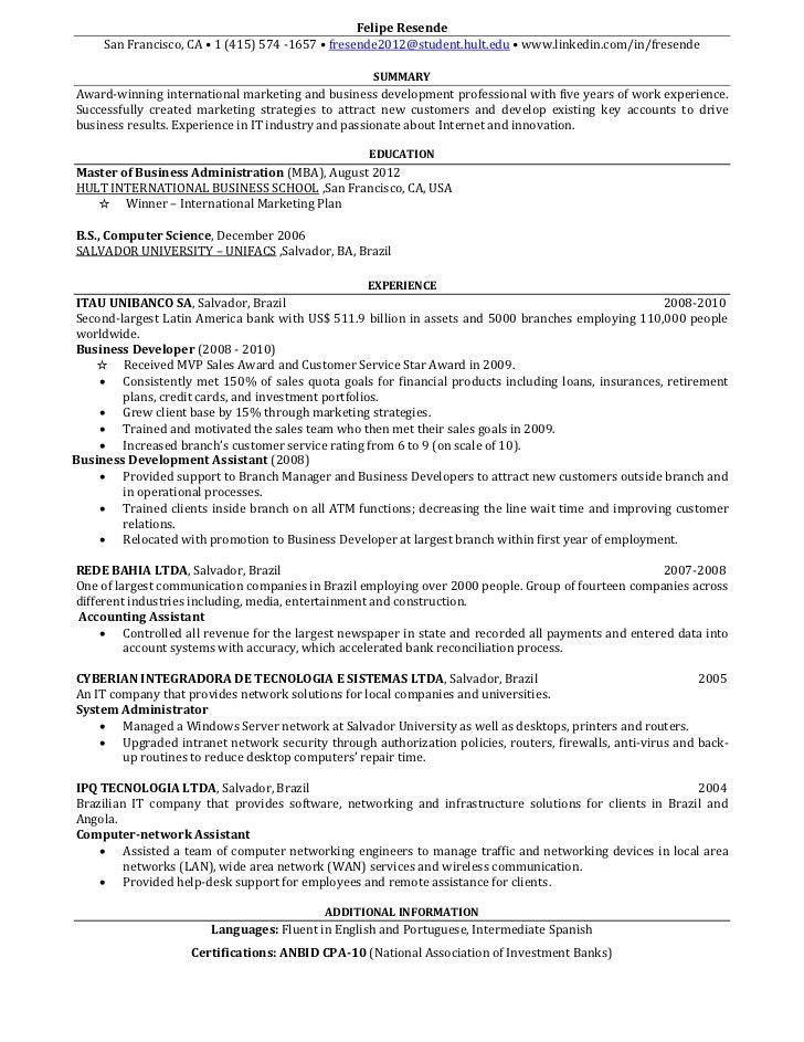 Download Resume One Page | haadyaooverbayresort.com