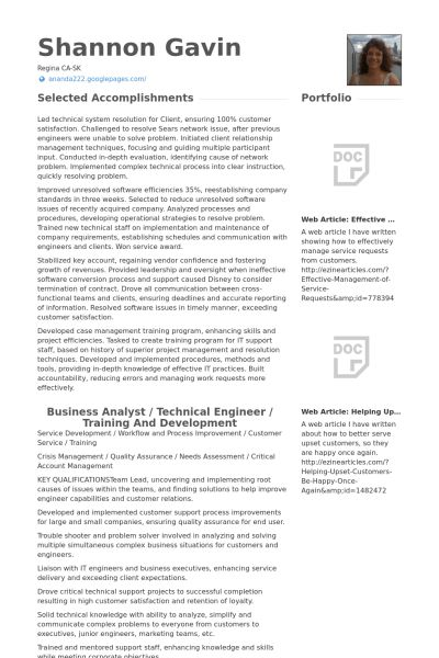 Customer Support Engineer Resume samples - VisualCV resume samples ...