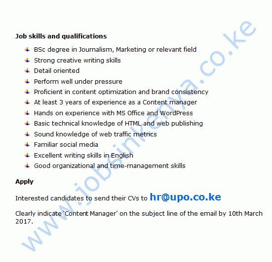 Digital Media Marketing Company Content Manager Vacancy in Kenya ...