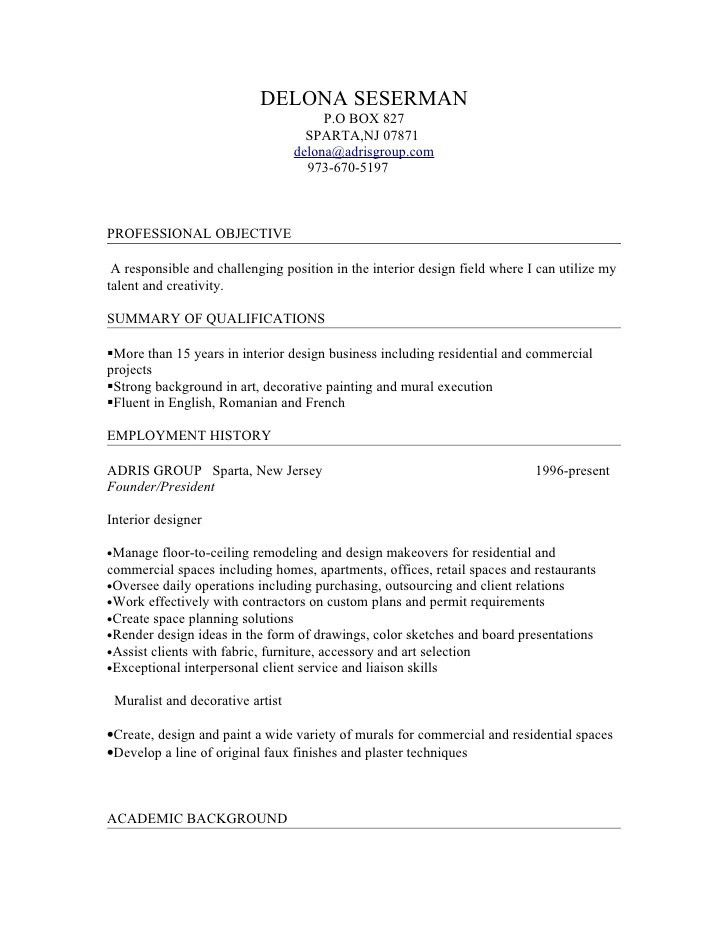 interior design resume objective design resume objective examples