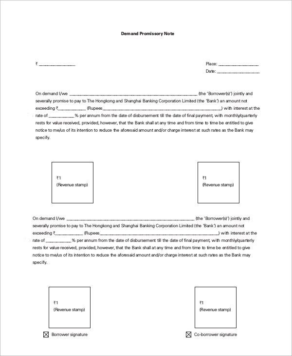 Sample Promissory Note - 9+ Examples in Word, PDF
