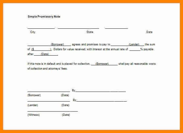 6+ promissory note template free download | job resumed