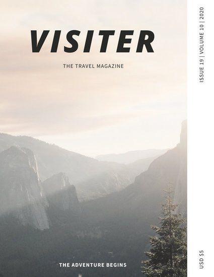 Travel Magazine Cover Templates - Canva