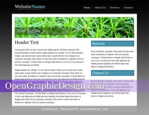 Free Basic Website Templates | Template Design