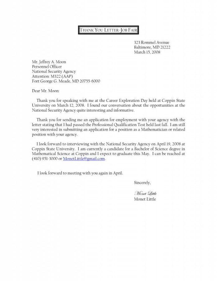 Cover Letter Job Fair