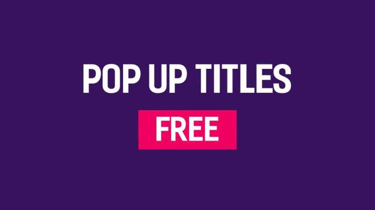 Free Pop Up Titles - After Effects Templates | Motion Array