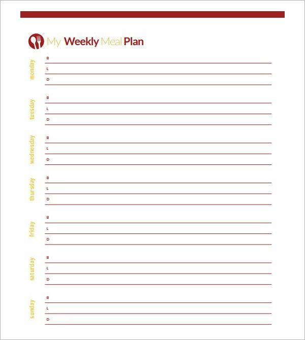 week menu planner template