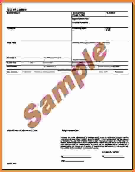 Bill Of Lading Sample.online Bill Of Lading Example.jpg - Sales ...