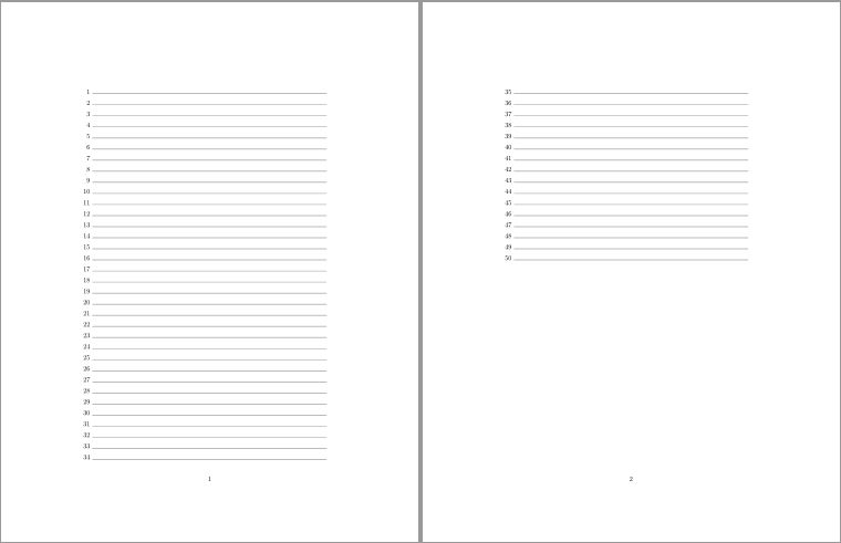 How to create a lined page with line numbers? - TeX - LaTeX Stack ...