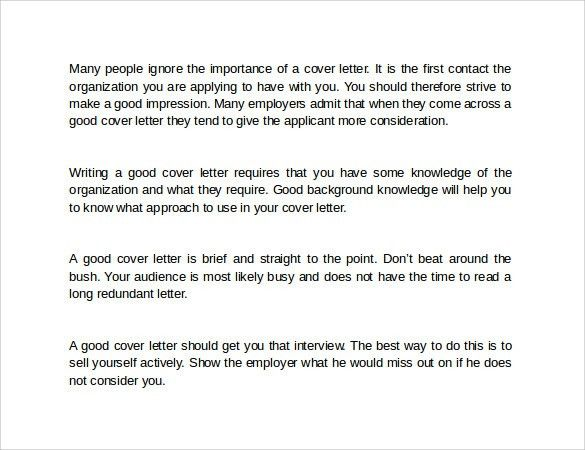 How to Write an Effective Cover Letter business letter examples ...