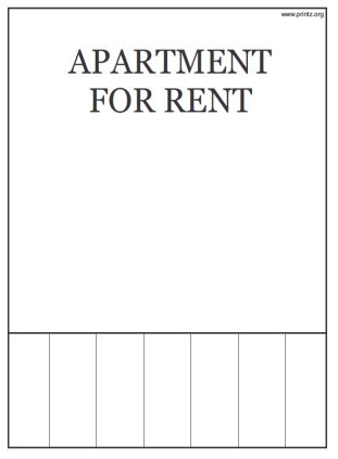 FOR RENT FLYER | Example Resumes
