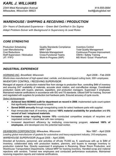 production supervisor resumes production supervisor resume